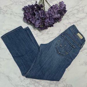 AG Adriano Goldschmied tomboy crop jeans 25